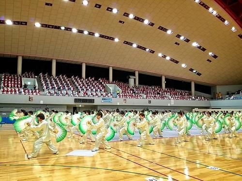 ねんりんピック栃木2014<太極拳 交流大会>!集団演武-1