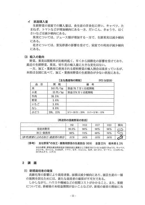 栃木県議会<農林環境委員会>特定テーマ取りまとめ他!⑭