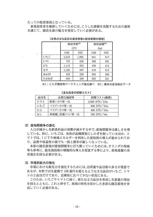 栃木県議会<農林環境委員会>特定テーマ取りまとめ他!⑮