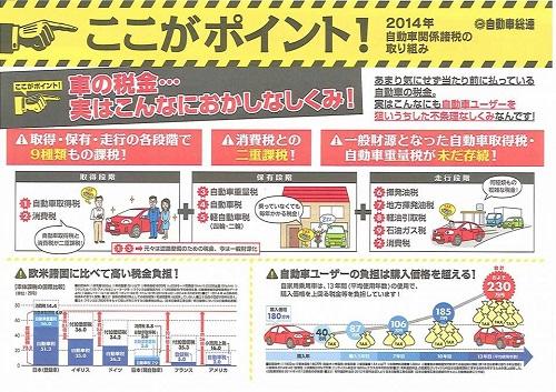 自動車総連 税制改正等要請を受付!②