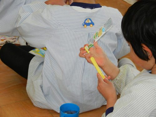 さゆり幼稚園で歯磨き指導_歯ブラシ