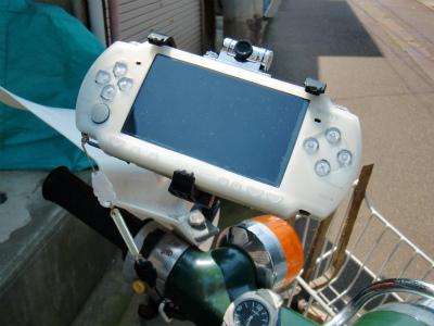 PSP with カメラ on スーパーカブ