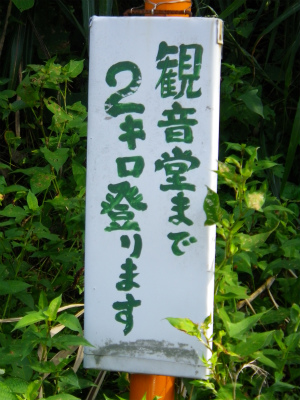 細い林道を2km