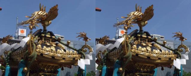 神輿とツリー1