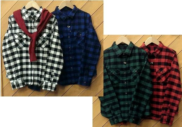 ブロックチェックシャツ ¥2300+税