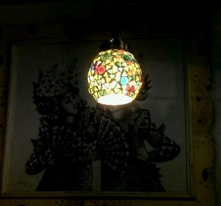 モザイクハンギングランプ サークル ¥5000+税