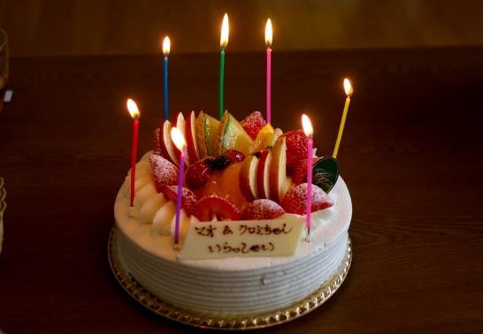 嬉しいケーキでお祝い!!