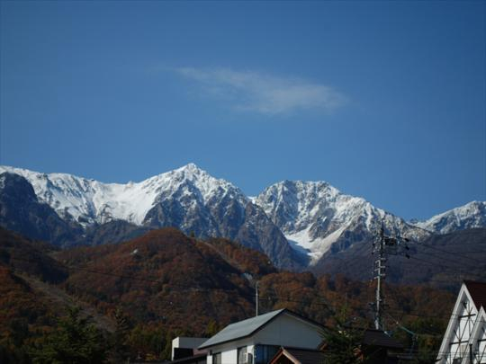 白馬 紅葉 長野県