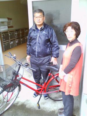 たんぽぽの会 自転車お届け 第1号