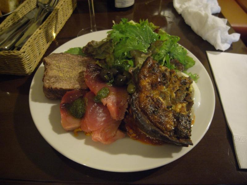 タパの谷町ブログ-前菜の盛り合わせ