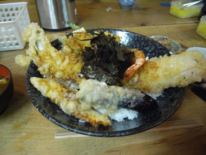 タパの谷町中心の生活-海老穴子天丼