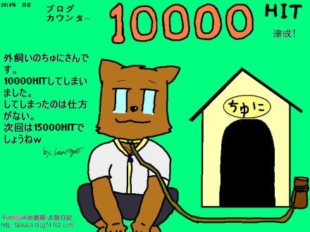 アクセスカウンター10000HIT