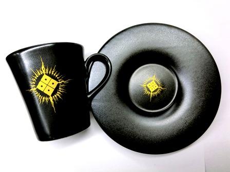 【限定】 黒 TAUJAN カップ&ソーサー