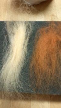 2色の羊毛