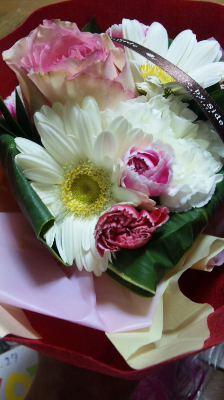 カスミンハルナから文化祭の時に頂いたお花