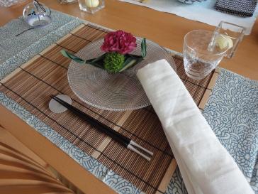七夕のテーブル(私のアレンジ)