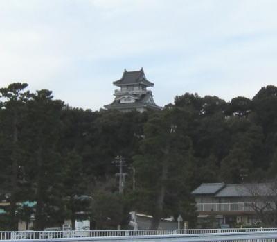 遠くに見える小山城