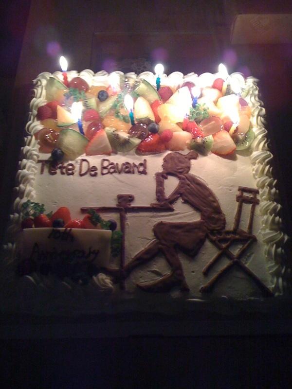 Tete10周年ケーキ