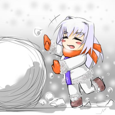 雪だるま作りたい
