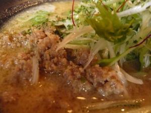 麺家かぐら 鶏ごぼうラーメン 挽肉