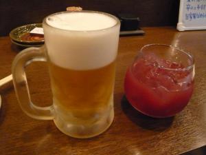 こころ ビール、カシスオレンジ