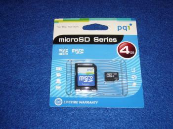 マイクロSD4GB