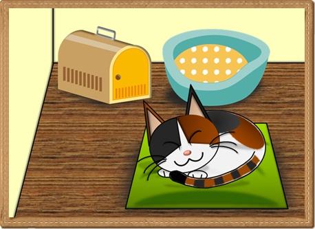 眠り猫背景付2