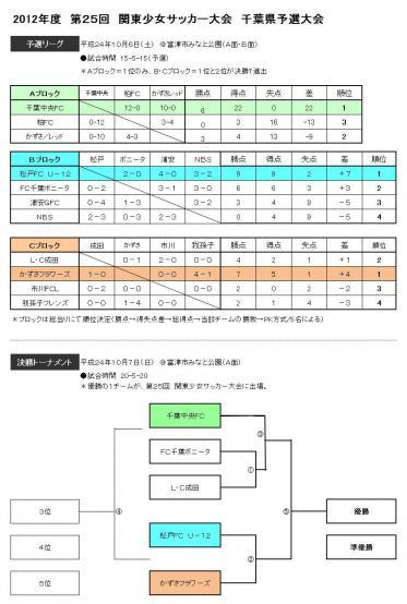 11人制県大会予選結果