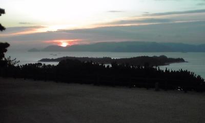 釜島と日の出