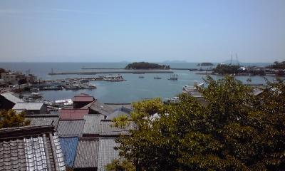 鞆城から港