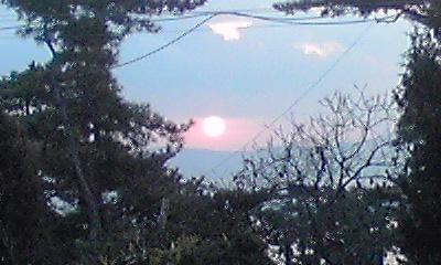 日の出です