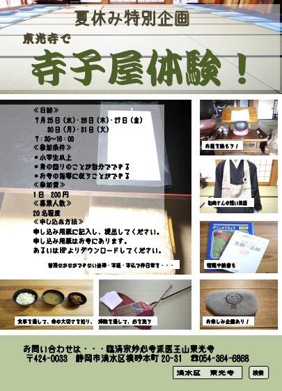 寺子屋体験 ポスター