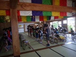 寺子屋体験2日目 布薩体験2