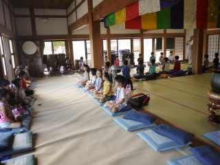 寺子屋体験4日目 最後の坐禅