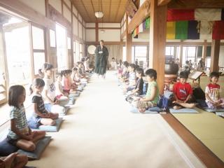 寺子屋体験1日目 坐禅