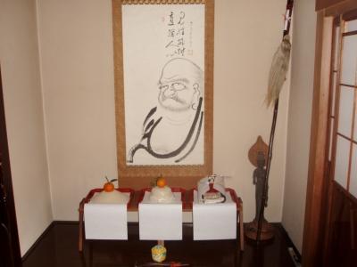 お寺のお正月 達磨様1