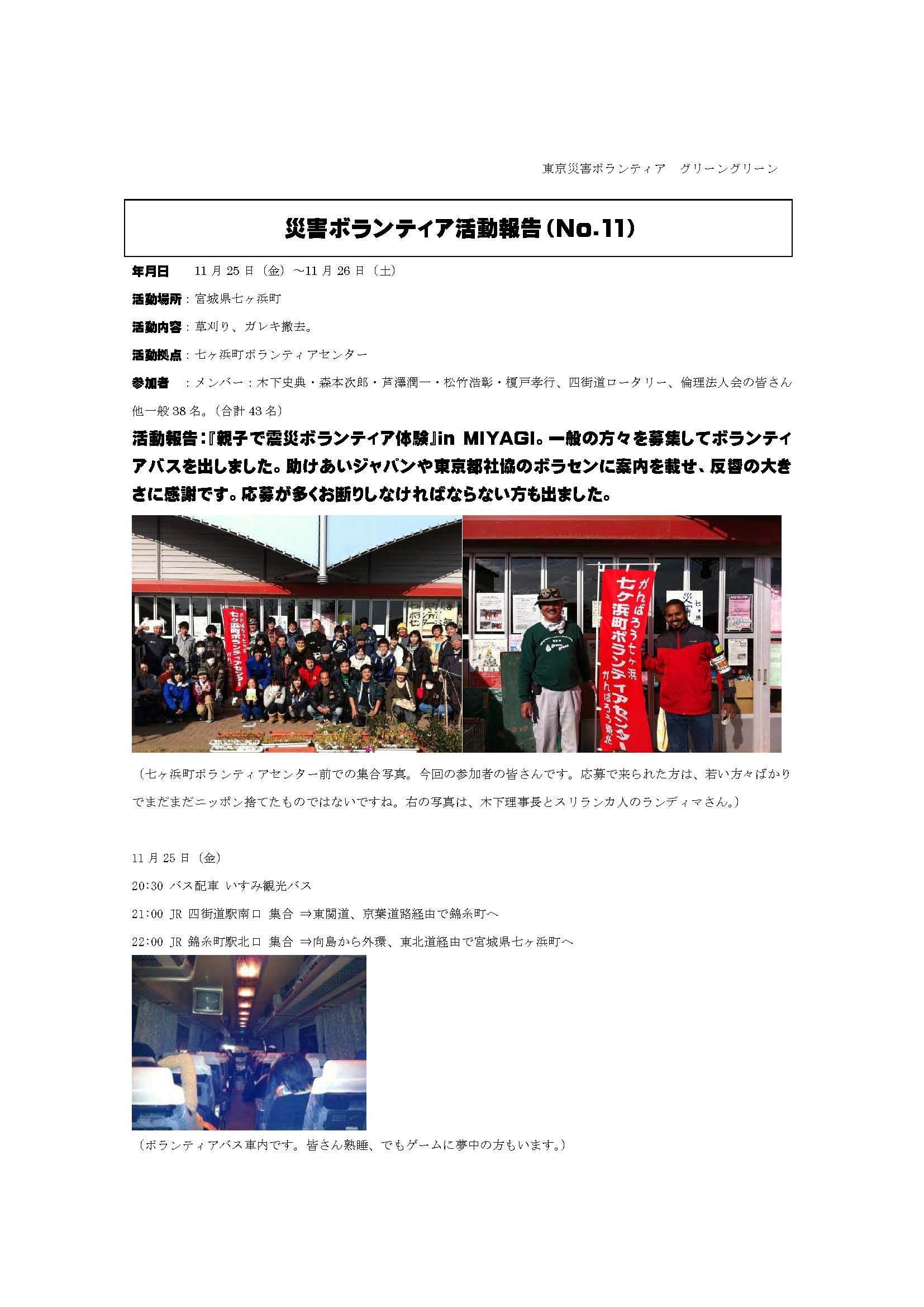 災害ボランティア活動報告No.11-1