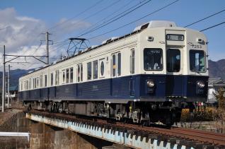 2011年1月3日 上田電鉄別所線 中塩田~下之郷 7200系7253F