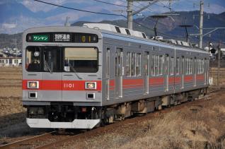2011年1月3日 上田電鉄別所線 舞田~八木沢 1000系1001F