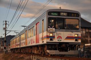 2011年1月3日 上田電鉄別所線 寺下~神畑 1000系1002F