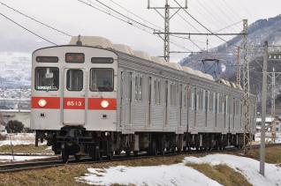 2011年1月28日 長野電鉄長野線 8500系T3編成