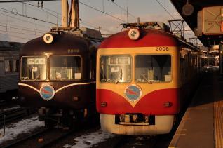 2011年1月28日 長野電鉄長野線 2000系A編成・D編成