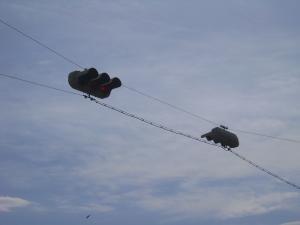 吊られた信号機