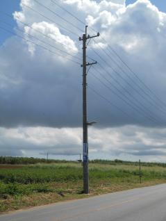沖縄電力の電柱