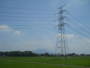 山と田畑と鉄塔と、下館あたり