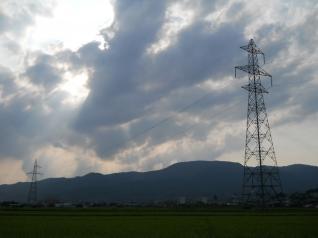 雲と光線がすごい・・・