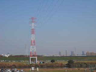 京北線荒川を渡る