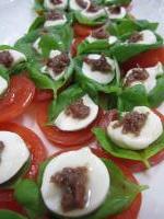 料理 モッツアレラ&トマト&アンチョビ