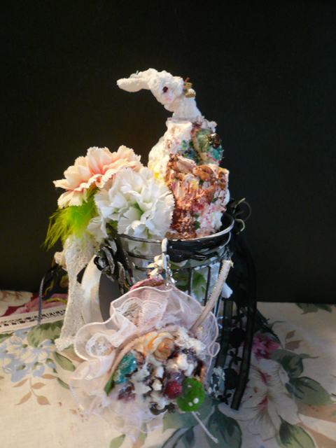 マシュマロウサギアリス風ケーキです(//^-^//)