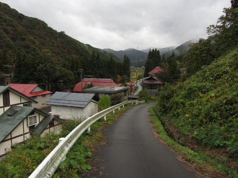 水抜集落と中山峠旧道